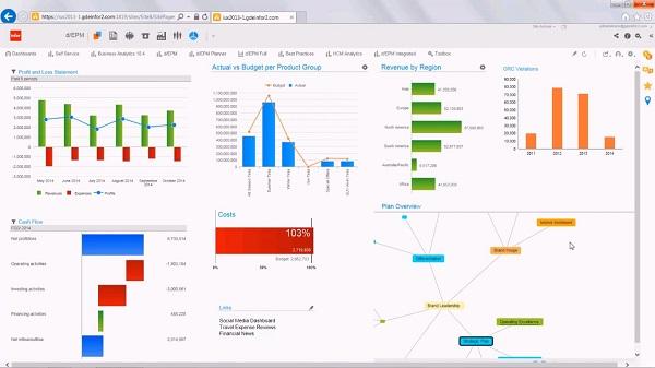 infor d/EPM - reporting,analyse und visualisierung software
