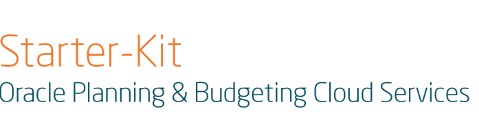 Oracle Planning and Budgeting Cloud Service - Starter Kit